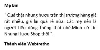 review nhung hươu shop