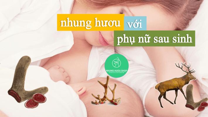nhung hươu rất tốt cho phụ nữ sau khi sinh
